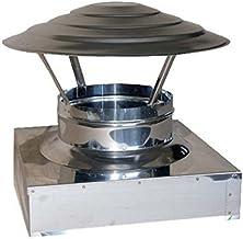 Capot de Chemin/ée 120mm Chapeau de Chemin/ée Rotatif Acier Inoxydable Extracteur de Fum/ée,pivotant Embout de Chemin/ée