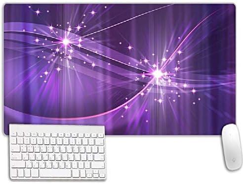 Gaming Muismat Paars Licht Bureau Mat Antislip Waterdicht Rubber Kantoor Schrijfblok Voor Kantoor En Spel9004003mm
