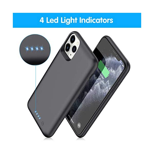 Battery Case For Iphone 11 Pro Maxupgrade 7800mah Portable Charging Case For Iphone 11 Pro Max Rechargeable Backup External Battery Pack Extended Battery Protective Charger Case65inch Black
