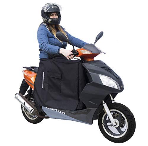 Beinschutz mit Winter-Fleece für Motorroller Roller Regenschutz Wetterschutz Abdeck-Nässeschutz-Plane Beindecke [088]