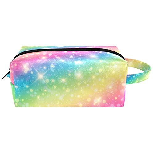 Kosmetiktasche Tragbare Reise Make-up Taschen Toilettenartikel Organizer Bleistift Fall für Frauen Mädchen Regenbogen Farbe Shining Illuminate