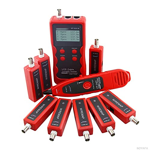 cjcaijun Ethernet Tester Rastreador de Cable LCD Localizador de Alambre RJ45 RJ11 BNC USB Probador de Longitud del buscador de fallas de Cable Herramientas de Klein (Color : NF-868W)