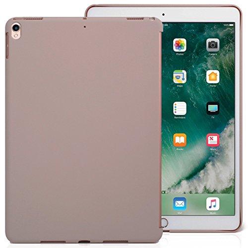 KHOMO iPad Air 3 10.5 (2019) / iPad Pro 10.5 (2017) Rückseite Abdeckung Hülle Hülle Schutzhülle Kompatibel mit Smart Cover & Testatur - Stein Grau