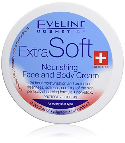 EVELINE Cosmetics Extra Soft Nourishing Face and Body Cream 200ml All Skin Types