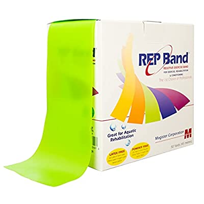 """Physical Therapy Aids-75720 REP Band, Level 3, 4"""" x 50 Yards, Green from Physical Therapy Aids"""