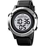 Men's Digital Watch Large Face Military Electronic Waterproof Watches for Men with 10 Years Standby Stopwatch Alarm LED Screen