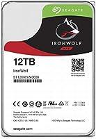 "Seagate IronWolf 3.5"" データ復旧3年付 12TB 内蔵HDD(CMR) 3年保証 256MB 7200rpm 24時間稼動 PC NAS 用 RVセンサーST12000VN0008"