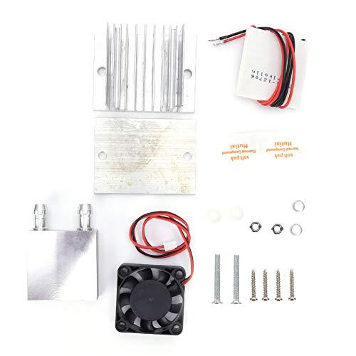 Weikeya Placa fría del semiconductora, Hecha de Aluminio 12V 40 x 40 x 10 mm Fregadero de Calor de Aluminio