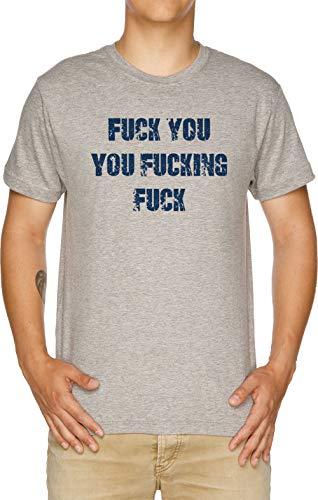 Vendax Fuck You You Fucking Fuck - Lip Camiseta Hombre Gris