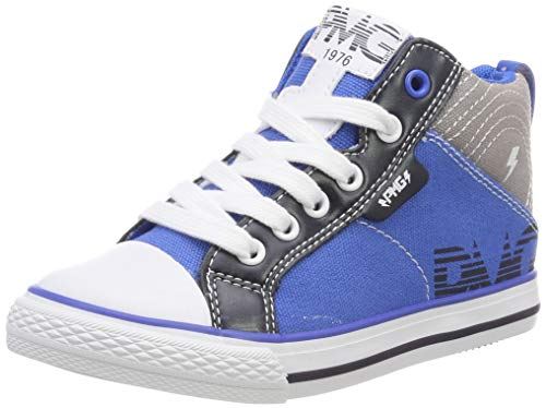 PRIMIGI Jungen PBC 34554 Hohe Sneaker, Blau (Royal-Grigio 3455400), 34 EU
