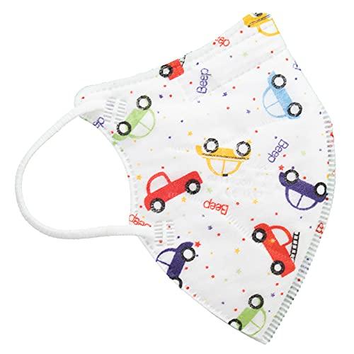 TBOC FFP2 Masken - [Pack 10 Einheiten] Einwegmasken [Kleine Größe] [Autos] 5 Schichten [Nicht Wiederverwendbar] Atmungsaktives Falten mit Nasenklemme [Zertifiziert und Genehmigt CE 0370]