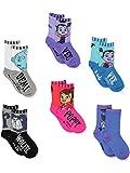 Vampirina Girls Toddler 6 pack Crew Socks (Shoe Size: 10-4 (Sock: 6-8), Multicolor)