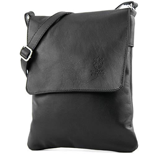 Craze London Genuine Italian Leather Verapelle Large Cross body Messenger Bag/Womens Ladies Verappele hand Bags (Black)