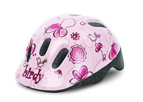 Helm POLISPORT Baby P1 Birdy Fahrradhelm Kinderhelme Größe XXS 44-48 cm Creme Rosa by Polisport