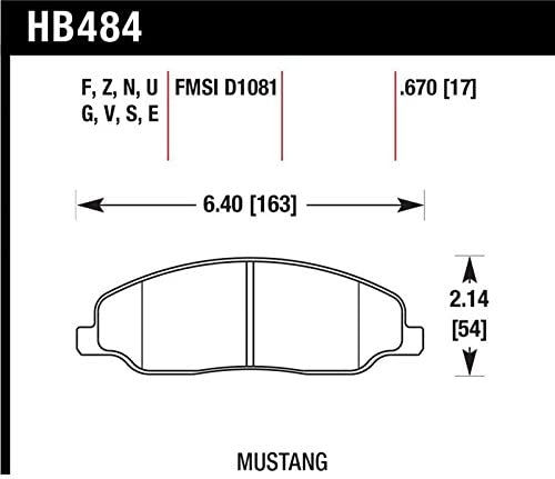 Hawk Performance 70% OFF Outlet HB484F.670 HPS Front Disc Beauty products Brake Pad