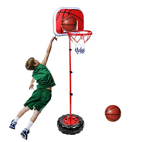 Taeku ミニ バスケットゴール バスケットボールセット 子供用 バスケットボールスタンド フープ 高さ調節可能 二つボール付き 室内屋外兼用 工具付き ポータブル 安定性抜群 バスケの練習用 誕生日プレゼント1年保証付 (170CM)