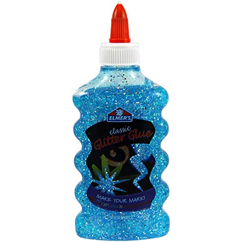 Cola Para Slime Elmers Glitter Azul Gliter 177ml