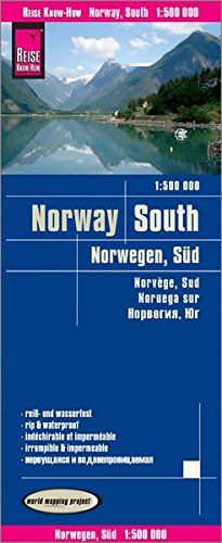 Reise Know-How Landkarte Norwegen, Süd (1:500.000): world mapping project