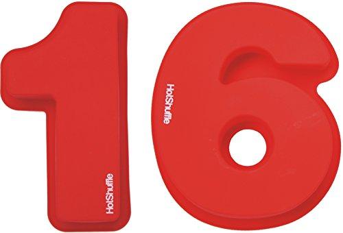 HotShuffle Grand Nombre de Silicone 16 Moule à gâteau Moule 16ème Anniversaire Cadeau 1 6