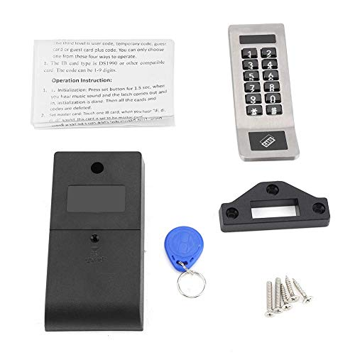 Cerradura de código 1 juego Cerradura codificada de seguridad anti-oxidada de acero inoxidable Cerraduras de código electrónico convenientes de plata digital con llaves