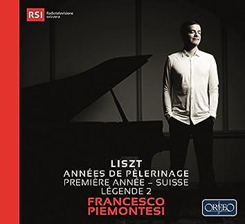 """Liszt: Années de pèlerinage I, S. 160 """"Suisse"""" & Légende No. 2"""