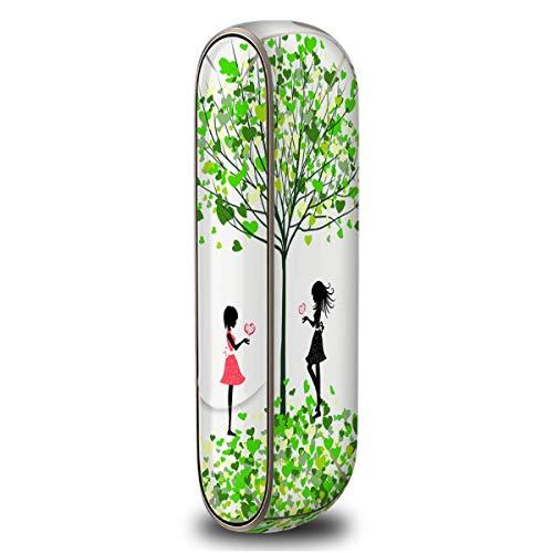 iQOS3 アイコス3 専用 緑のハートの木 柄 スキンシール ガール/妖精/さくら