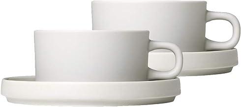 Blomus 63908 PILAR filiżanki do herbaty, kamionka