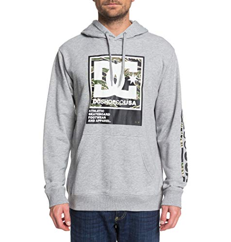 DC Shoes Herren Fleece Top Arakana - Kapuzenpulli Für Männer, Grey Heather, L, EDYSF03225