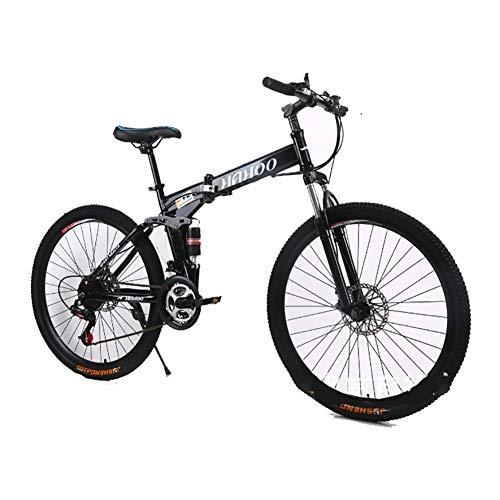 Wghz Spécialité vélo Pliant vélo de Montagne vélo de Route 20 Pouces vélo vélo de Route et vélo de Montagne pour Adulte, vélos vélo de Montagne Populaire Noir, Noir