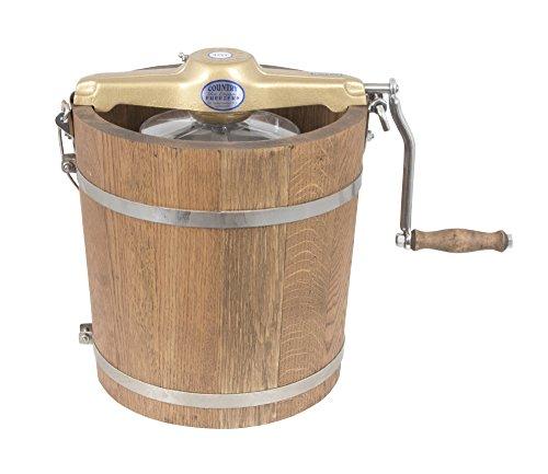 4 qt Country Ice Cream Maker - Classic Wooden Tub - Hand Crank