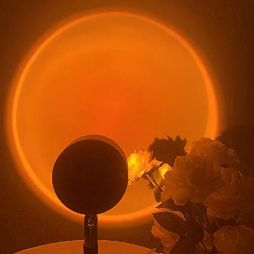 RTMX&kk Lámpara de Proyección Sunset Lámpara de Proyección LED 180 ° Rotation Carga USB Rainbow Sunset Projection Foor Lamp Lámpara de Pie Modernas para Salón Decoración de Fondo
