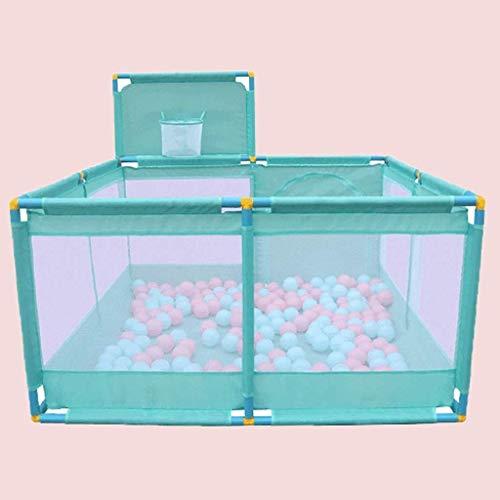 JPVGIA Clôture de Jeu intérieure pour Enfants Ball Pool Marine Home Baby Toddler Safety Fence Clôture Baby Crawling Mat (Color : Blue)