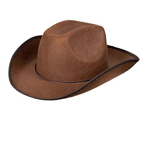 Boland 04097 - Hut Cowboy braun, mit Hutschnur, Filz, Ranger, Wild West, Westernhut, Accessoiree, Karneval, Halloween, Fasching, Mottoparty, Verkleidung, Theater