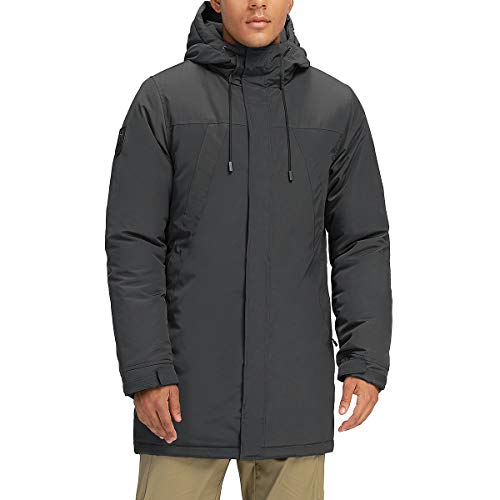 Mens Winter Coats Long Warm Jacket with Hood Casual Quilted Puffer Parka Windproof Jackets