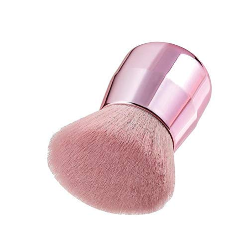 No logo Make-up Pinsel weichen Metall-Pilz Big Puderpinsel Rosa Winkel-Flach Gesicht erröten Make-up-Pinsel (Handle Farbe: Rundkopf) (Size : Oblique Head)