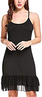Zeagoo Women's Full Slip Adjustable Spaghetti Strap Cami Under Dress Extender
