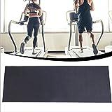 HGFHG Laufbandmatte Bodenschutzmatte 4 Mm Dicke Stoßfeste Matte Für Trainingsgeräte Strapazierfähige Bodenmatte Für Fitnessstudios, 160cmx68cm,schwarz