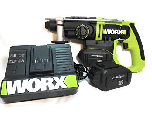 WORX-Las demás herramientas electromecánicas, de portátiles-Martillo perforador 3-F, 2 baterías 18 V 2,6Ah, SDS-Plus