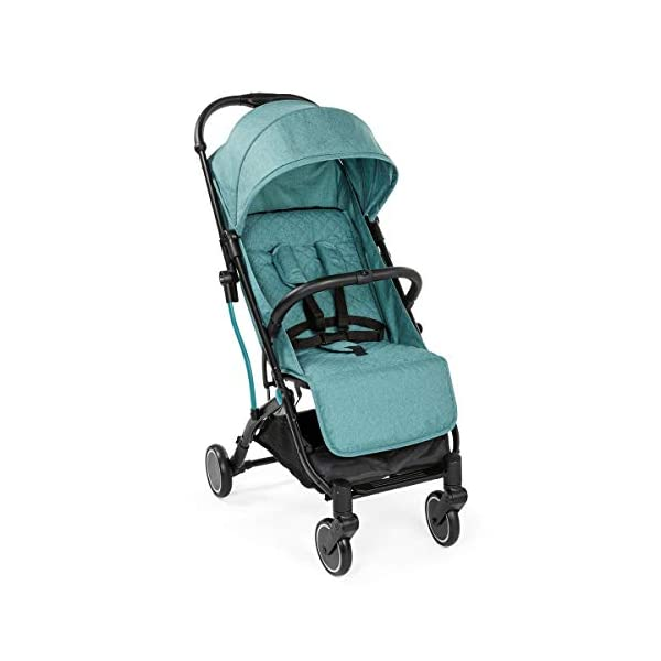 Chicco Trolley Chicco Trolley function to carry the stroller without lifting it Compact one-handed quick locking system, when closed stand alone Bumper sleeve with front opening for the child on the seat 5