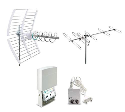 Fracarro Kit 15 EVO Antenna Digitale Terrestre 1 Antenna Elika Pro + Antenna BLV6F + Amplificatore + Alimentatore 217947