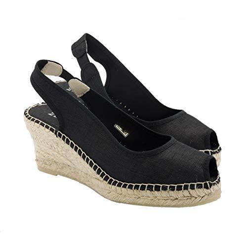 2 Espadrilles - Alpargatas Fabricadas a Mano en España Espadrilles Esparto Zapato para Mujer Tacón Gala