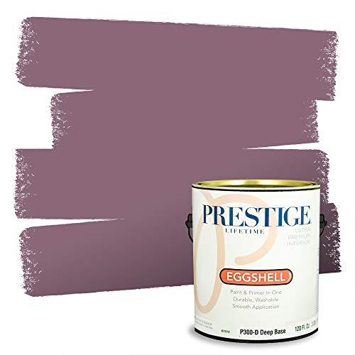 Prestige Paints Interior Paint and Primer In One, 1-Gallon, Eggshell, Comparable Match of Sherwin Williams* Plum Dandy*
