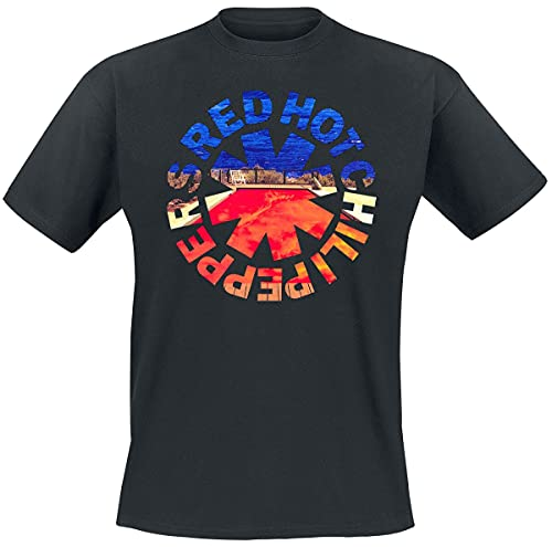 Red Hot Chili Peppers Californication Hombre Camiseta Negro L, 100% algodón, Regular