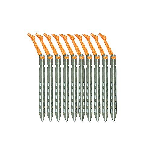 Clavijas para carpa en forma de V, 6 piezas de aleación de titanio Estacas para carpa para el suelo Clavijas para varillas largas huecas Estacas para clavos Estacas para jardín Clavijas para acampar