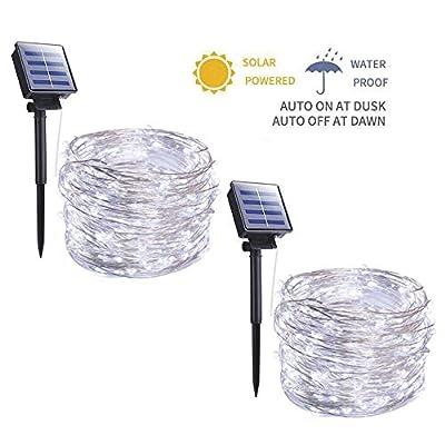 2 Pack 33FT 100 LED String Lights Waterproof