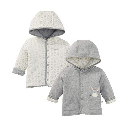 Bornino Veste réversible âne veste bébé vêtements bébé, gris chiné/écru