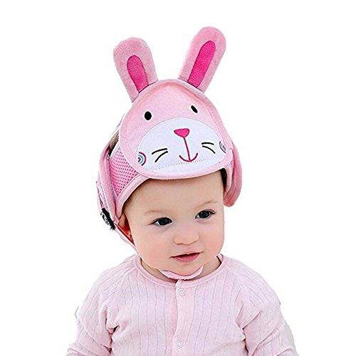 Baby Safety Helmet Infant Toddler Children Anti-Collision Head Protective Cap Adjustable Harnesses Head Protector No Bumps Head Cushion Safety Helmet (Rabbit)