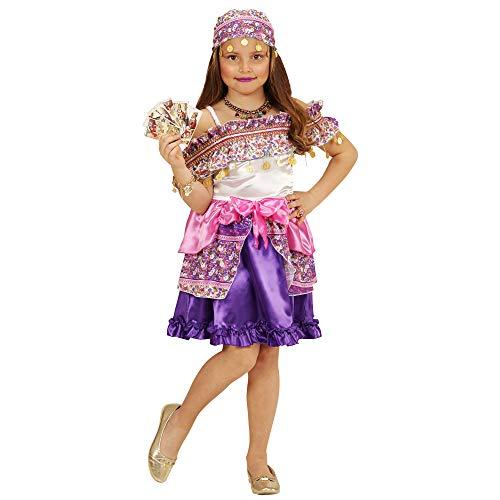 WIDMANN 49418?Costume per Bambini zigeunerin Gipsy, Vestito e Foulard