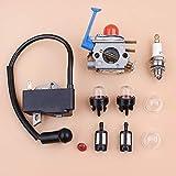 LIBEI Carburador Bobina de Encendido Magneto Tune Up Kit para Husqvarna 128C 128LD 128R 125C 125E 125L desbrozadora desbrozadora