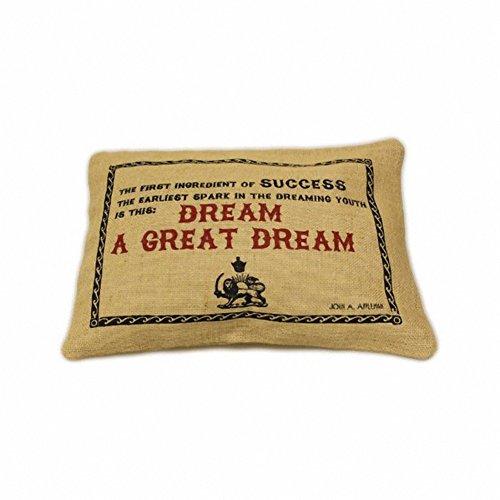 Jute Cushion Cover - Great Dream
